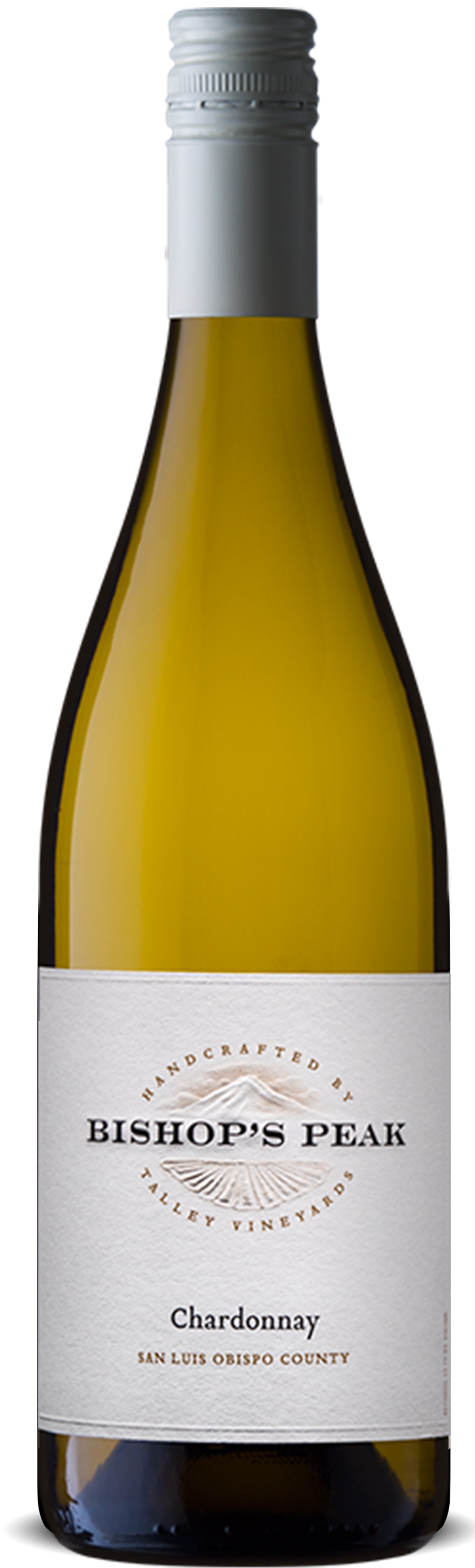 A bottle of Bishop's Peak Chardonnay made by Talley Vineyards.