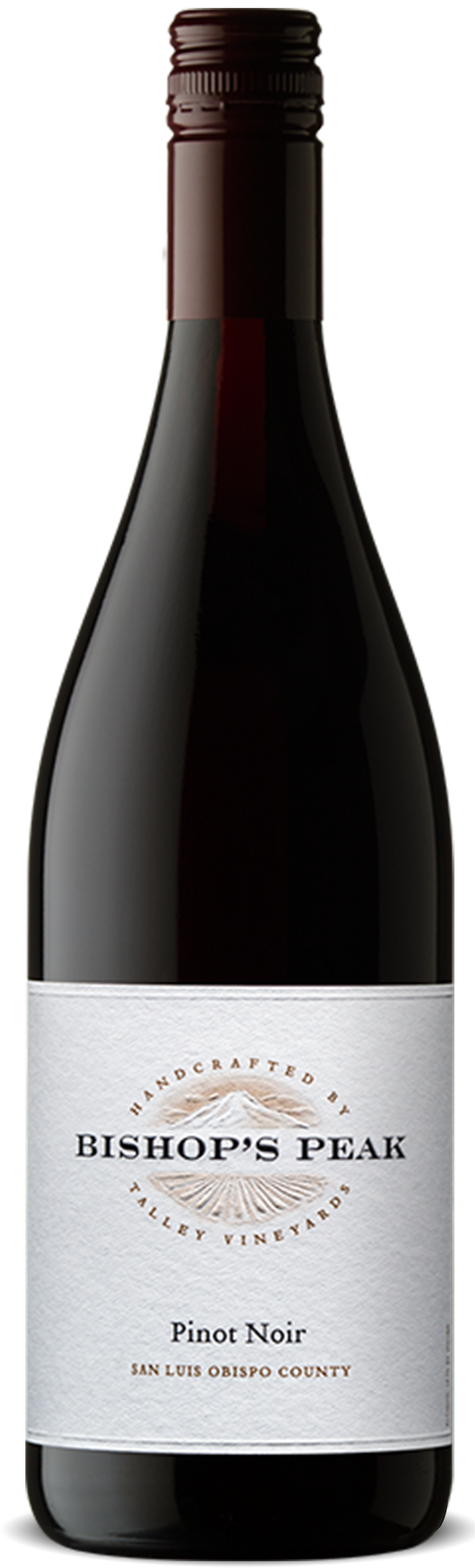 A bottle of Bishop's Peak Pinot Noir made by Talley Vineyards.