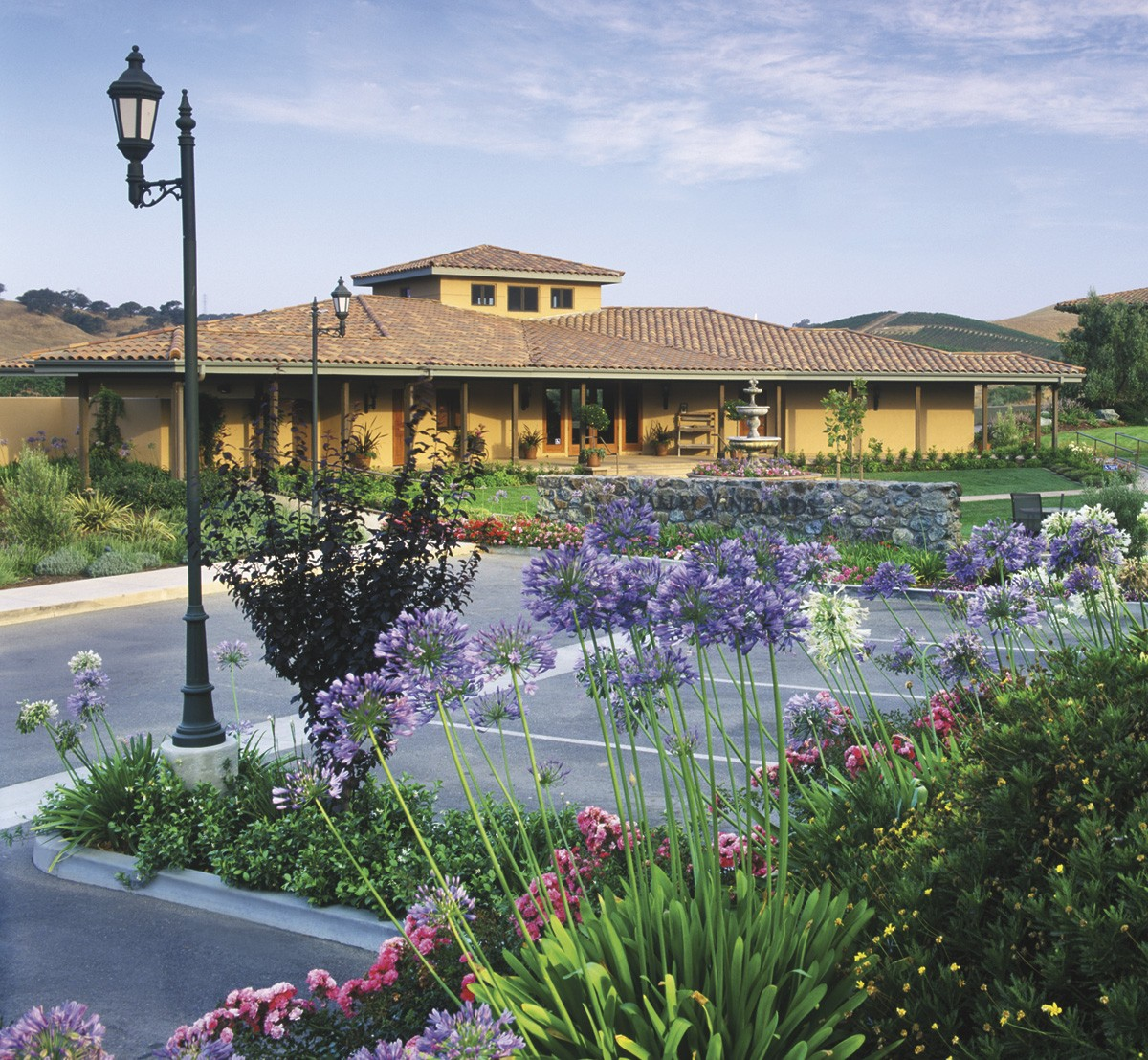 The tasting room at Talley Vineyards, built in 2002 in Arroyo Grande, California, in the heart of the San Luis Obispo Coast.