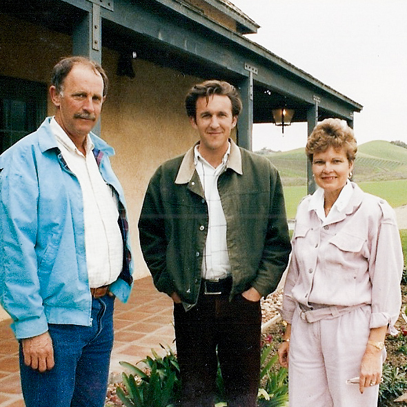 Don, Rosemary and Brian Talley stand outside the Rincon Adobe.