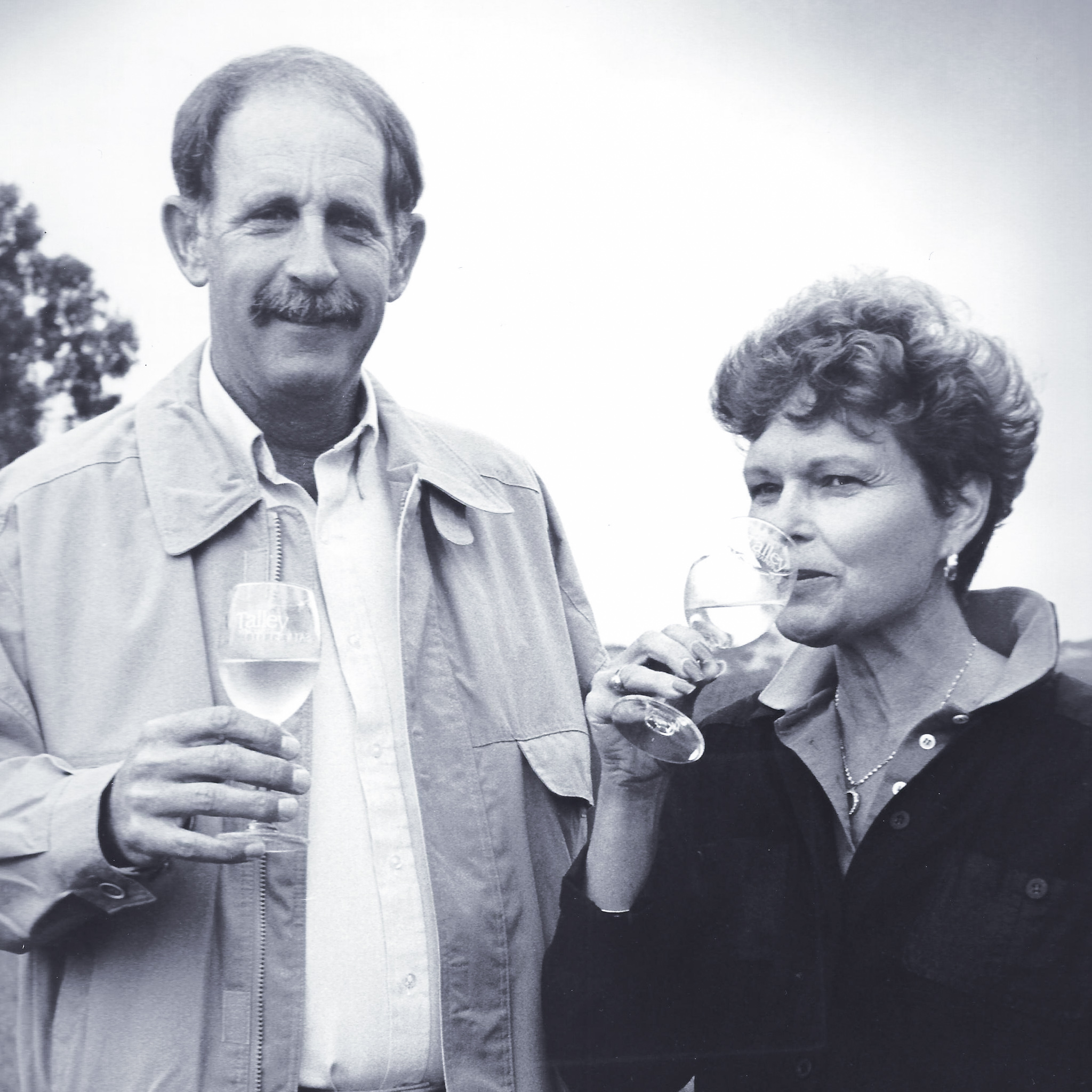 Don and Rosemary Talley, founders of Talley Vineyards.