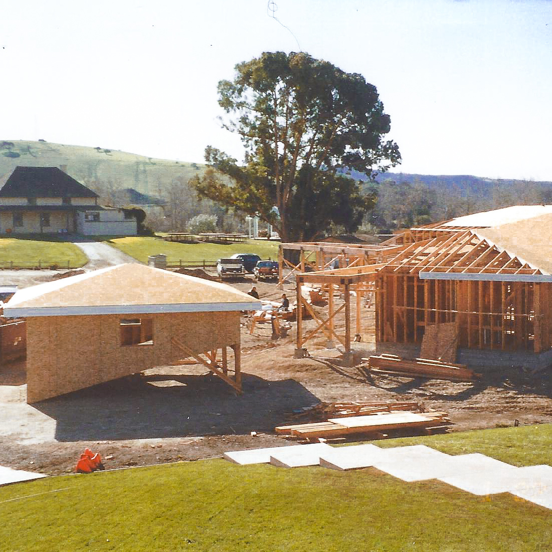 The building of the Talley Vineyards Tasting Room in 2002.